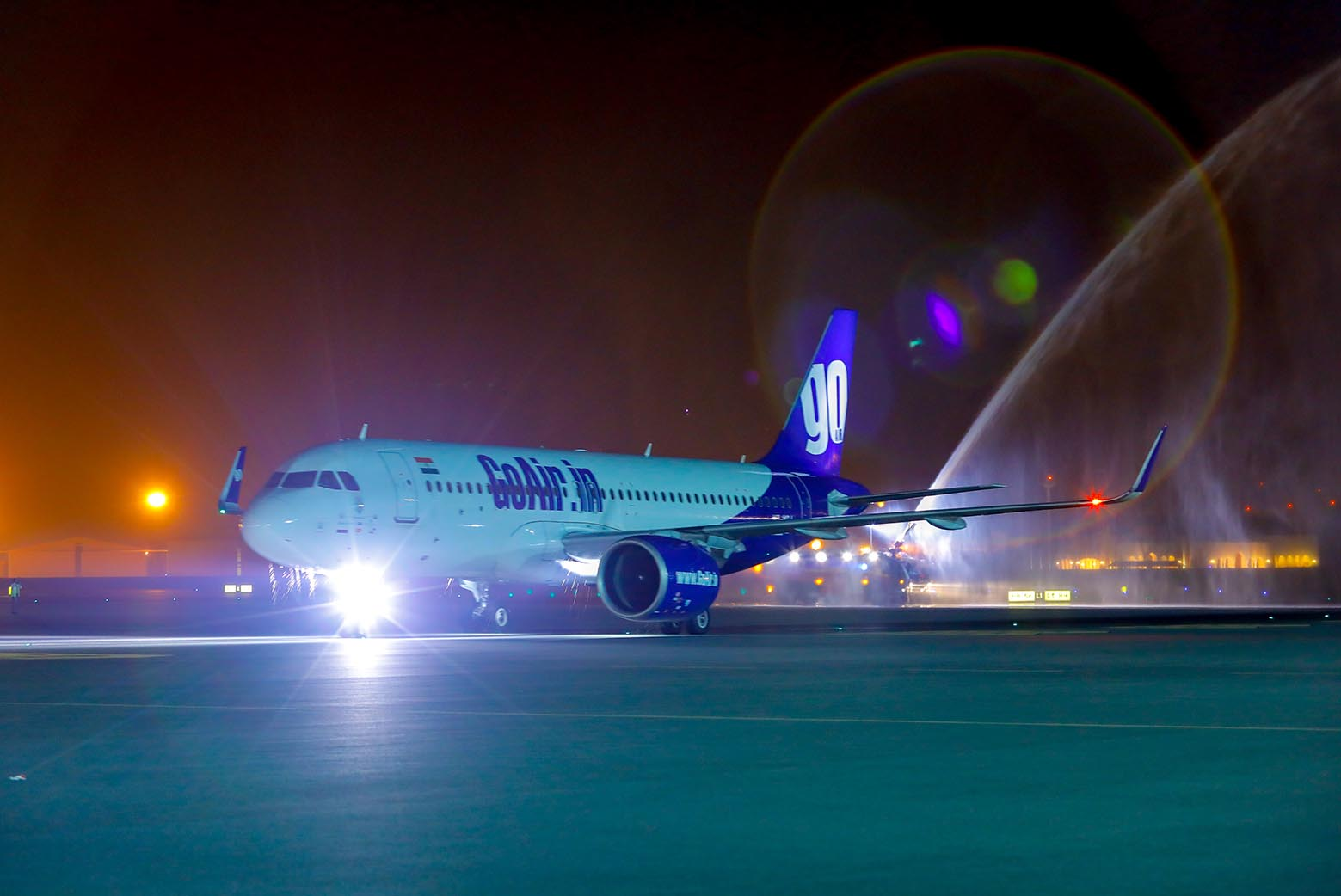 Muscat International Airport Receives First Indian GoAir Flight