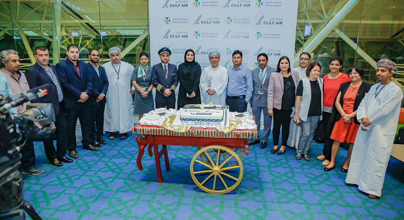 مطار صلالة يستقبل رحلات طيران الخليج المباشرة
